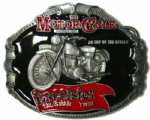 Excelsior Talisman Twin Motorcycle Belt Buckle including display stand. Code NH8